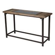 "Sterling Industries 58260436399 32"" Rectangle Abruzzo Console Table, Ebony/Walnut"