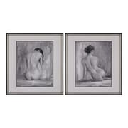 "Sterling Industries ""Figure In Black and White I, II - Set of 2"" Framed Wall Art, 27""H x 25""W"