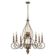 "Elk Lighting Hamilton 58231393-8+49 40"" 12 Light Chandelier, Mocha"