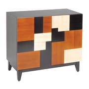 Sterling Industries Malaysia 582150-0259 Mozaic Cabinet, Cherry/Walnut/Black