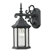 "Elk Lighting Spring Lake 5828611EW-659 15"" x 6"" 1 Light Wall Sconce, Matte Textured Black"
