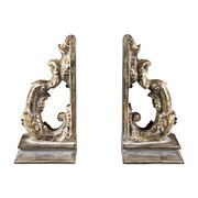 Sterling Industries 58293-10078-S29 Set of 2 Florentine Scroll Decorative Bookends, Devon Gold