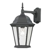 "Elk Lighting Temple Hill 5828101EW-659 18"" x 10"" 1 Light Wall Sconce, Matte Textured Black"