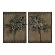 "Sterling Industries 582138-061-S29 ""Promenade Flower - Set of 2"" Wall Decor, 24""H x 19""W"