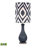 "Dimond Lighting Hitchin 582D2517-LED9 24"" Table Lamp, Navy Blue with Black Nickel"