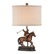 "Sterling Industries Polo 58293-193859 21"" Incandescent Accent Table Lamp, Hamstead Bronze"