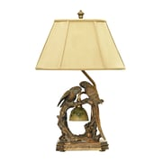 "Dimond Lighting Twin Parrots 58291-5079 25"" Incandescent Table Lamp, Atlanta Bronze"