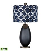 "Dimond Lighting Sevenoakes 582D2521-LED9 25"" Table Lamp, Navy Blue with Black Nickel"
