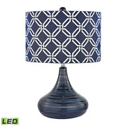 "Dimond Lighting Peebles 582D2519-LED9 21"" Table Lamp, Navy Blue"
