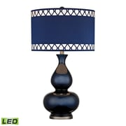 "Dimond Lighting Heathfield 582D2516-LED9 28"" Table Lamp, Navy Blue with Black Nickel"