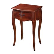 """Sterling Industries 58265008369 29"""" Rectangle Hillmar Side Table, Mahogany Stain"""