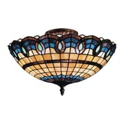 "Elk Lighting Victorian Ribbon 582936-CB9 8"" 3 Light Semi Flush Mount, Classic Bronze"