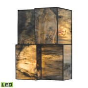 """Elk Lighting Cubist 58272070-2-LED9 10"""" x 7"""" 2 Light Wall Sconce, Brushed Nickel"""