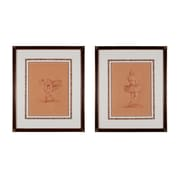 """Sterling Industries """"Graceful Pose - Set of 2"""" Framed Wall Art, 25""""H x 21""""W"""
