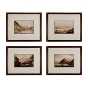 "Sterling Industries ""Valley Renderings - Set of 4"" Framed Wall Art, 17""H x 21""W"