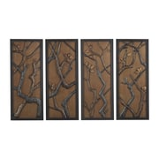 "Sterling Industries 582138-058-S49 ""Hiatus Hand Cast Branch - Set of 4"" Wall Decor, 40""H x 16""W"