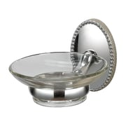 "Sterling Industries Bancroft 582131-0159 4"" x 5"" Chrome Soap Dish"