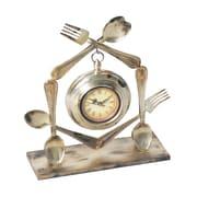 Sterling Industries 58251-02109 Decorative Utensil Desk Clock, Beige Face