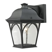 "Elk Lighting Cape Ann 5828301EW-659 10"" x 8"" 1 Light Wall Sconce, Matte Textured Black"