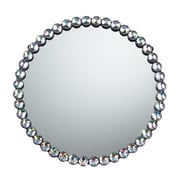 "Sterling Industries 58251-100189 16""Dia kids Auburn Jewel Edged Round Wall Mirror"