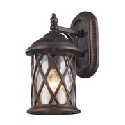 "Elk Lighting Barrington Gate 58242035-19 13"" x 7"" 1 Light Armed Sconce, Hazelnut Bronze"