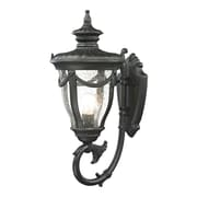"Elk Lighting Anise 58245076-19 22"" x 10"" 1 Light Armed Sconce, Matte Black"