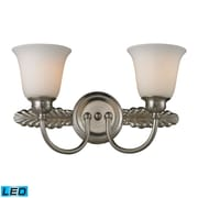 "Elk Lighting Ventura 58211434-2-LED9 10"" x 18"" 2 Light Vanity, Brushed Nickel"
