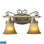 "Elk Lighting Claremont 58211427-2-LED9 10"" x 16"" 2 Light Vanity, Colonial Bronze"