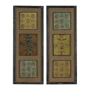 """Sterling Industries 582138-048-S29 """"Aughton Spanish Tile - Set of 2"""" Wall Decor, 36""""H x 14""""W"""