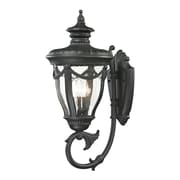 "Elk Lighting Anise 58245077-39 26"" x 11"" 3 Light Armed Sconce, Matte Black"