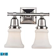 "Elk Lighting Barton 58266231-2-LED9 11"" x 12"" 2 Light Vanity, Polished Nickel"