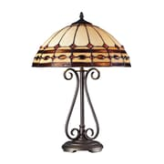 "Dimond Lighting Dimond Ring 58270165-29 23"" Incandescent Table Lamp, Burnished Copper"
