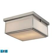 "Elk Lighting 58211464-2-LED9 6"" 2 Light Flush Mount, Brushed Nickel"