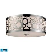 "Elk Lighting Retrovia 58231024-3-LED9 7"" 3 Light Flush Mount, Polished Nickel"