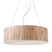 "Elk Lighting Modern Organics 58219063-59 7"" 5 Light Drum Pendant, Polished Chrome"