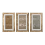 "Sterling Industries ""Metal Alloy In Champagne Pearl and Silver - Set of 3"" Framed Wall Art, 34""H x 22""W"