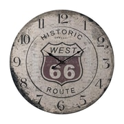 Sterling Industries 582118-0369 Route Wall Clock, Brown Face