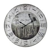 Sterling Industries 582118-0379 New York Wall Clock, Black/White Face