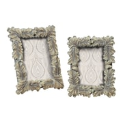 Sterling Industries Florintine 58293-91989 Silver Resin 11 x 9 Picture Frame, Set of 2