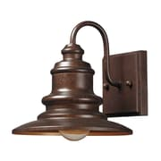"Elk Lighting Marina 58247010-19 8"" x 8"" 1 Light Armed Sconce, Hazelnut Bronze"