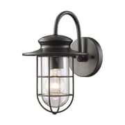 "Elk Lighting Portside 58242284-19 12"" x 7"" 1 Light Armed Sconce, Matte Black"