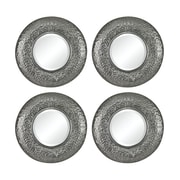 Sterling Industries Halingsden 582138-021-S49 13Dia Round Wall Mirror, Set of 4