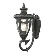 "Elk Lighting Anise 58245075-19 17"" x 7"" 1 Light Armed Sconce, Matte Black"