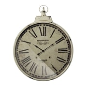 Sterling Industries 582118-0449 Kensington Station Wall Clock, Antique Cream Face