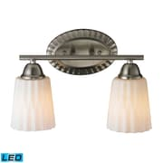 "Elk Lighting Waverly 58211406-2-LED9 9"" x 14"" 2 Light Vanity, Brushed Nickel"