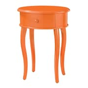 Sterling Industries 58251-101459 24 Oval Accent Table, Tangerine Orange