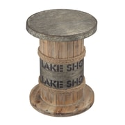 Sterling Industries Lake Shore 582138-0339 18 Washed Pine with Aluminum Stool