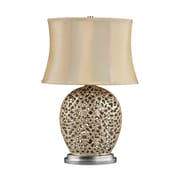 "Dimond Lighting Serene 582D21689 25"" Incandescent Table Lamp, Pearlescent Cream"