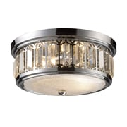 "Elk Lighting Flush Mount 58211226-29 6"" 2 Light Flush Mount, Polished Chrome"