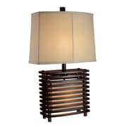 "Dimond Lighting Burns Valley 582D14199 27"" Incandescent Table Lamp, Espresso Wood"